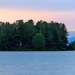 Near sunset on Lake Umbagog in Errol, New Hampshire.