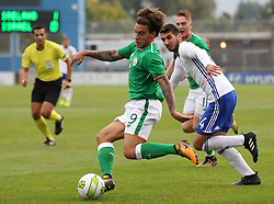 Republic of Ireland's Reece Grego-Cox during the 2019 UEFA Under 21 Qualifying Group Five match at the Tallaght Stadium, Dublin. PRESS ASSOCIATION Photo. Picture date: Monday October 9, 2017. See PA story SOCCER Wales. Photo credit should read: Nigel French/PA Wire. RESTRICTIONS: Editorial use only, No commercial use without prior permission.