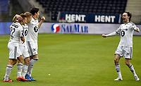 Fotball <br /> UEFA Europa League Qualification<br /> 23.07.2015<br /> Rosenborg v KR Reykjavik<br /> Foto: Tor Inge Langberg/Digitalsport<br /> <br /> RBK jubler for scoring og avansement<br /> Ole Selnæs (R)