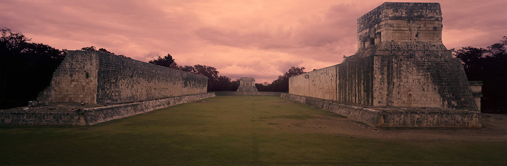 Mayan Ball Court in Chichen Itza with less Doomsday Sky
