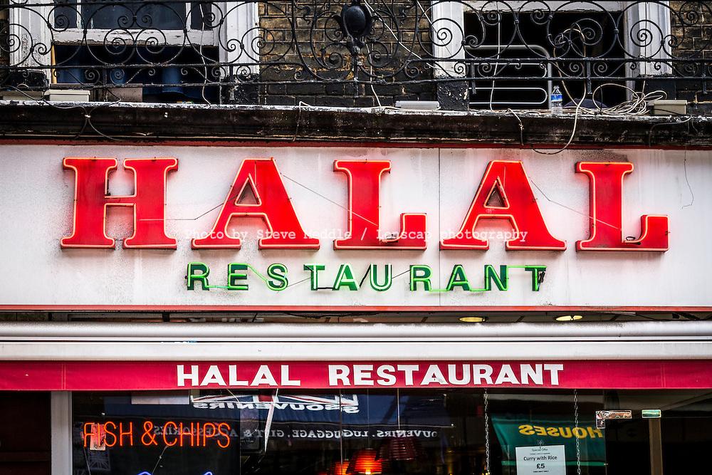 Halal Restaurant Sign - Aug 2013.