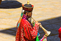 Musician at the Paro Tsechu (Festival), Paro, Bhutan