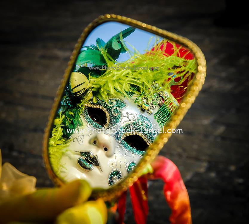 Venice Carnival Maskreflects in a mirror