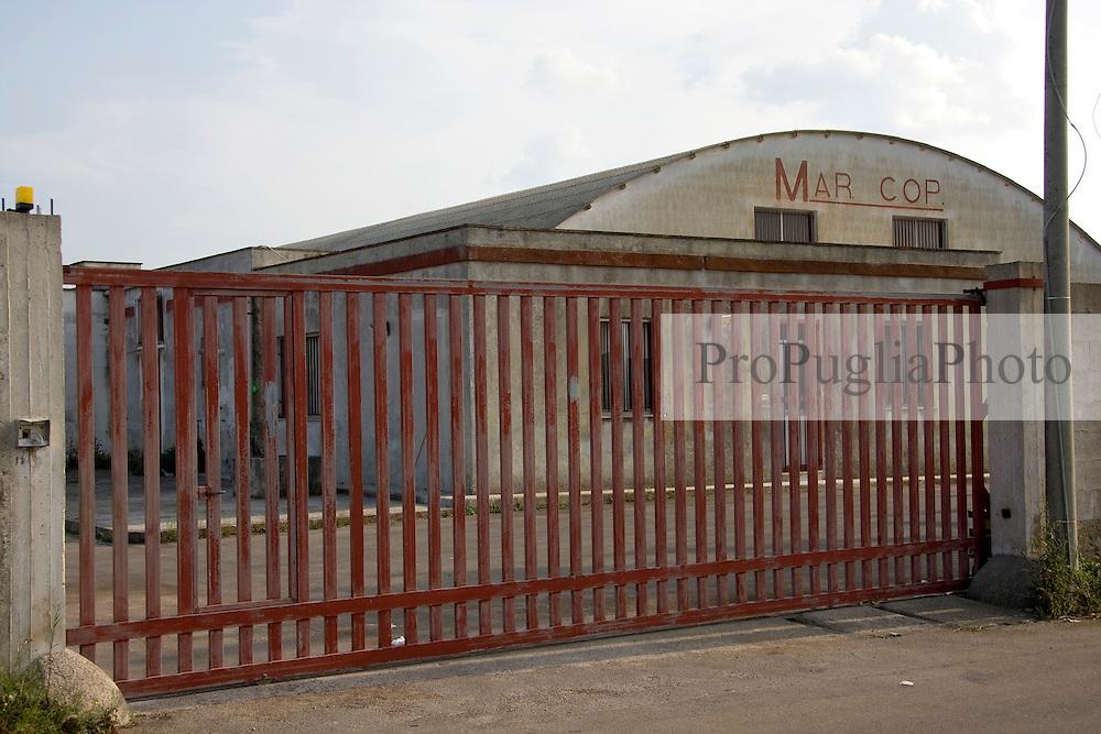 Entrata di uno stabilimento industriale nella zona industriale di Alessano (LE)