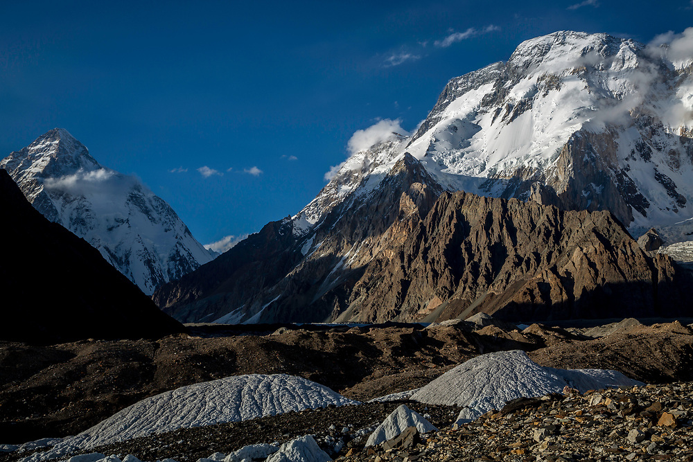 K2 and Broad Peak from Concordia, Pakistan