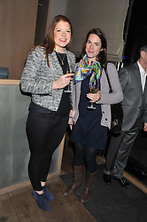 Left to right, CORDELIA ROSA and ELLA LISTER at a dinner hosted by Marlon & Nadya Abela at Cassis 232-236 Brompton Road, London to thank customers & friends for their custom held on 9th February 2012.