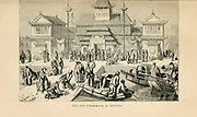 The customhouse at Shanghai, China 1872 engraving on wood From The human race by Figuier, Louis, (1819-1894) Publication in 1872 Publisher: New York, Appleton