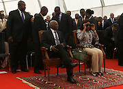José Eduardo dos Santos, the president of the Republic of Angola and the MPLA number 1 candidate for the forthcoming general elections of August 31, and his wife Ana Paula dos Santos during the inauguration of the rehabilitation of marginal bay of Luanda, today, August 28, the day of his 70th birthday