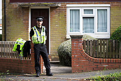 © Licensed to London News Pictures. 16/06/2016. Leeds, UK. Picture shows police at a property on Lowood Lane in Birstall believed to be the home of Tommy Mair who has been named locally as a suspect after Jo Cox, Member of Parliament for Batley and Spen, has been shot and stabbed during a constituency surgery. Photo credit: Andrew McCaren/LNP