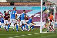 A disallowed goal goal for Burnley, offside, during the Premier League match between Burnley and Brighton and Hove Albion at Turf Moor, Burnley, England on 26 July 2020.