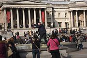 Trafalgar Sq. London. . 7 March 2018