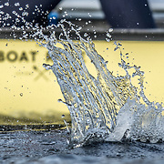 backsplash <br /> <br /> Crews prepare for Sunday's 165th Boat Race between Oxford and Cambridge, River Thames, London, Friday 5th April 2019. © Copyright photo Steve McArthur / www.photosport.nz