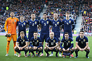 Scotland team picture during the Friendly international match between Scotland and Portugal at Hampden Park, Glasgow, United Kingdom on 14 October 2018.