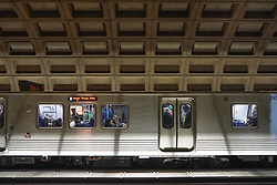 A view of the Metrorail subway in Washington DC in the United States. From a series of travel photos in the United States. Photo date: Friday, March 30, 2018. Photo credit should read: Richard Gray/EMPICS