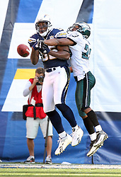 SAN DIEGO, CA - NOVEMBER 15: Dimitri Patterson of the Philadelphia Eagles during a game against the San Diego Chargers on November 14, 2009 at Qualcomm Stadium in San Diego, California. The Chargers won 31-23. (Photo by Hunter Martin)