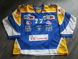 #77 Lasse Degn, Herning Blue Fox.<br /> Originale kamptrøje.