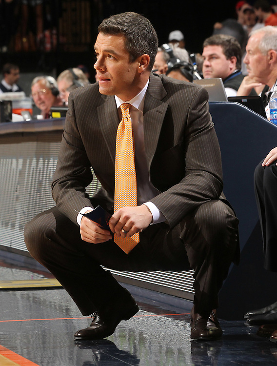 Virginia Cavaliers head coach Tony Bennett during the game against Florida State in Charlottesville, Va.  Florida State defeated Virginia 63-60.