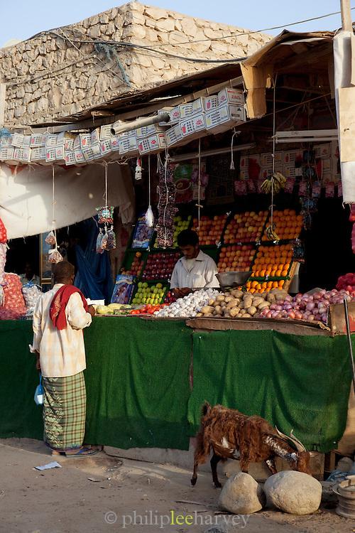 Market stall in Hadibu, the largest town in Socotra, Yemen
