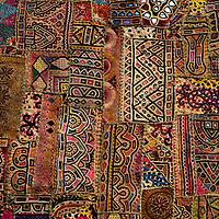 Asia, India. Traditional textile of India.