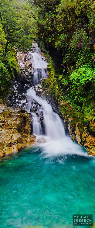 A beautiful waterfall in Fiordland in New Zealand.<br /> <br /> Code: XZSS0002<br /> <br /> Limited Edition Print