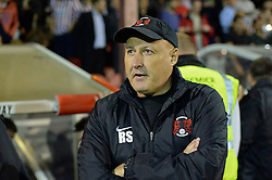 Leyton Orient's manager Russell Slade  - Photo mandatory by-line: Mitchell Gunn/JMP - Tel: Mobile: 07966 386802 23/09/2013 - SPORT - FOOTBALL -  Griffin Park - London - Brentford v Leyton Orient - Sky Bet League One