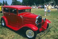 Hot Rod At Car Show