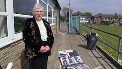 Ann Hart, honorary secretary of the Leeds PHAB Club at The Prince Philip Centre, in Leeds, on the day of the funeral for the Duke of Edinburgh. Picture date: Saturday April 17, 2021.
