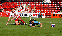 Photo: Steve Bond.<br />Walsall v Swansea City. Coca Cola League 1. 25/08/2007. Darryl Duffy is fouled by Ian roper (L) for a penalty to Swansea