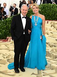 Christine and Stephen Schwarzman attending the Metropolitan Museum of Art Costume Institute Benefit Gala 2018 in New York, USA.