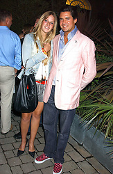 EDWARD TAYLOR and FREDERICA LOVELL-PANK at the opening party of the new Frankie's Italian Bar and Grill hosted by Frankie Dettori, Marco Pierre White and Edward Taylor at 68 Chiswick High Road, London W4 on 1st September 2005.<br /><br />NON EXCLUSIVE - WORLD RIGHTS