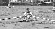 Kingston on Thames, United Kingdom. Richard STANHOPE. Molesey Boat Club., Men's Single Scull  M1X.   The final Round of the Leyland Daf Sprint series, at Kingston RC on the River Thames, Surrey, England, <br /> <br /> Saturday 04.05.1987<br /> <br /> [Mandatory Credit; Peter Spurrier/Intersport-images] 1987 Leyland Daf Sprints, Kingston. UK