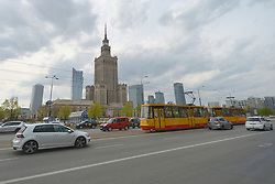 April 25, 2017 - Warsaw, Poland - A general view of the Palace of Culture and Science, the tallest building in Poland..On Tuesday, April 26, 2017, in Warsaw, Poland. (Credit Image: © Artur Widak/NurPhoto via ZUMA Press)
