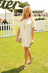 TINA HOBLEY at the Cartier International Polo at Guards Polo Club, Windsor Great Park, Berkshire on 25th July 2010.