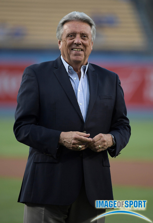 Sep 6, 2016; Los Angeles, CA, USA; Los Angeles Dodgers broadcaster and former player Rick Monday attends a MLB game against the Arizona Diamondbacks at Dodger Stadium.