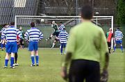 Nederland, Nijmegen, 1-2-2014Jonkerboys, het elftal van de Pompekliniek, een TBS inrichting in Nijmegen, spelen een oefenwedstrijd tegen oud-NEC.Foto: Flip Franssen/Hollandse Hoogte