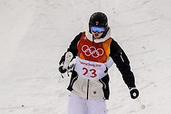 February 9, 2018 - Pyeongchang, South Korea - 180209 Kristin Moen Skaslien of Norway after a crash in the MenÃ•s Moguls Qualification during the 2018 Winter Olympics on February 9, 2018 in Pyeongchang..Photo: Petter Arvidson / BILDBYRN / kod PA / 91956 (Credit Image: © Petter Arvidson/Bildbyran via ZUMA Press)