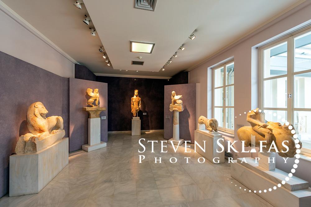 Memorial Sculptures from the Archaic period. Kerameikos Museum. Athens. Greece.
