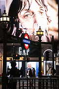 A government NHS National Heath Service advertisement displays the face of a Covid patient, urging Londoners to stay at home and not to take risks or bend the rules during the third lockdown of the Coronavirus pandemic, at Piccadilly Circus in the capitals West End, on 5th February 2021, in London, England.