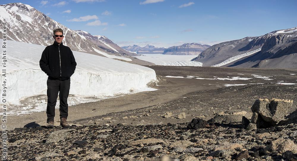 Yours truely in front of the Sollas Glacier. Taylor Glacier in distance.