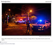 """""""Killings Curb Reporting of Mexican Crime Wave"""", The New York Times, Mexico, June 23, 2012. Photographs by Rodrigo Cruz."""