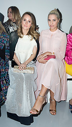 (left to right) Rosie Fortescue and Amber Le Bon on the front row during the Bora Aksu Autumn/Winter 2017 London Fashion Week show at BFC Show Space, London. PRESS ASSOCIATION. Picture date: Friday February 17, 2017. Photo credit should read: Isabel Infantes/PA Wire