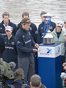 Putney, London,  Sjoerd HAMBURGER, President, OUBC, on the podium, preparing for The Toss,at Putney Hard, 156th University Boat Race, River Thames, between Putney and Chiswick, on the Championship Course.  Saturday  03/04/2010 [Mandatory Credit Karon Phillips/Intersport Images]