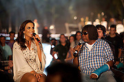 Brumadinho_MG, Brasil...O programa Altas Horas gravou especial em comemoracao aos seus 11 anos no ar.  O local escolhido foi o Instituto Inhotim em Brumadinho, Minas Gerais. Na foto Ivete Sangalo e Milton Nascimento...The tv program Altas Horas recorded special to commemorate his 11 years on the air. It happened Institute Inhotim in Brumadinho, Minas Gerais. In this photo Ivete Sangalo and Milton Nascimento...Foto: NIDIN SANCHES / NITRO