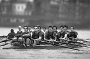 2004_Oxford University Trail Eights, Putney, London:ENGLAND. 14.12.04. Crew list. OUBC [right to left].Indians [Middlx] nearest.Bow Jamie Anderson, Nick Thomas-Peter, Robin Esmond-Frej, Jo Von Maltzahn, Peter Reed, Colin Smith, Robin Bourne-Taylor [President] Barney Williams. and cox Nick Brodie..Cowboys [Surrey].Bow Jake Sattlemair, Andrew Keats, Andrew Brennan, David Livingstone, Michael Blomquist. Henry Morris, Andy Triggs Hodge and cox Acer Nethercott..Photo Peter Spurrier.email images@intersport-images.com. ...........[Mandatory Credit Peter Spurrier/ Intersport Images] Varsity:Boat Race, Rowing Course: River Thames, Championship course, Putney to Mortlake 4.25 Miles