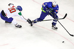 Ziga Pance of Slovenia during Ice Hockey match between National Teams of Italy and Slovenia in Round #5 of 2018 IIHF Ice Hockey World Championship Division I Group A, on April 28, 2018 in Arena Laszla Pappa, Budapest, Hungary. Photo by David Balogh / Sportida