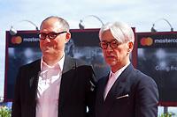 Stephen Nomura Schible and Ryuichi Sakamoto at the premiere of the film Ryuichi Sakamoto: Coda at the 74th Venice Film Festival, Sala Grande on Sunday 3 September 2017, Venice Lido, Italy.