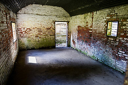 A look inside the rear building at the Nag's Head Cottage in Imber village on Salisbury Plain, Wiltshire, where residents were evicted in 1943 to provide an exercise area for US troops preparing to invade Europe. Roads through the MoD controlled village are now open and will close again on Monday August 22.