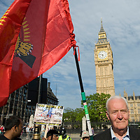 LONDON, ENGLAND - MAY 23: Tony Benn at  a vigil organized by Tamil students is held in Parliament Square May 23, 2009 in London, England. The students held the vigil to remember victims of the civil war in Sri Lanka....***Standard Licence  Fee's Apply To All Image Use***.Marco Secchi /Xianpix. tel +44 (0) 845 050 6211. e-mail ms@msecchi.com or sales@xianpix.com.www.marcosecchi.com