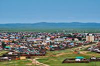 Mongolie, province de Ovorkhangai, vallée Orkhon classée Patrimoine Mondial de l'UNESCO, ville de Kharkhorin // Mongolia, Ovorkhangai, Kharkhorin city, Orkhon valley, Unesco world heritage