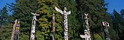 Totem Poles, Stanley Park, Vancouver, British Columbia, Canada<br />